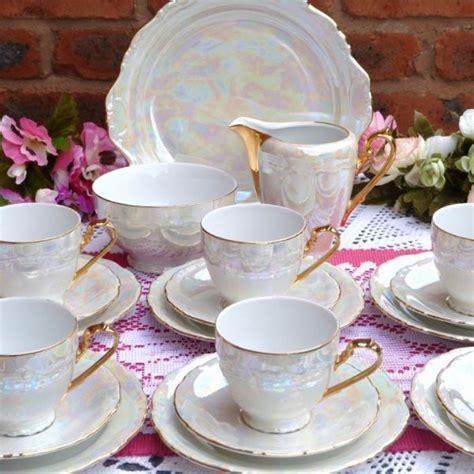 tea set mother  pearl effect vintage tea set www