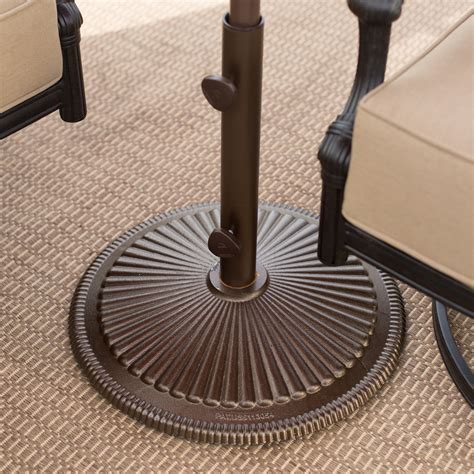 treasure garden 50 lb cast iron classic patio umbrella