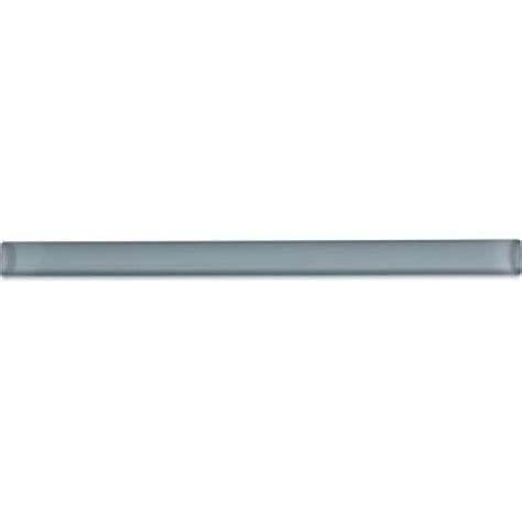 splashback tile gray cove glass pencil liner trim wall
