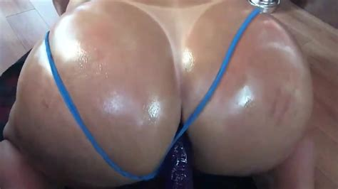 Faggot Slut Twerking Big Shiny Ass On A Dildo