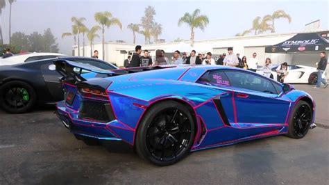 Chrome Blue Tron Lamborghini Aventador