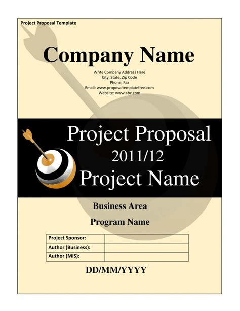 project proposal template ms word  docx