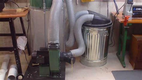 dust collection system   basement workshop