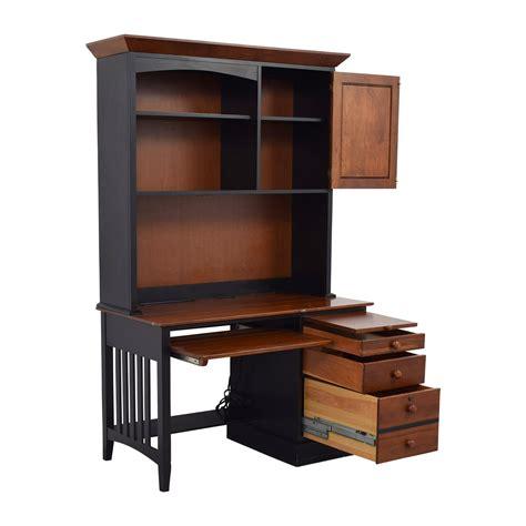 ethan allen desk with hutch 87 off ethan allen ethan allen cherry wood black desk