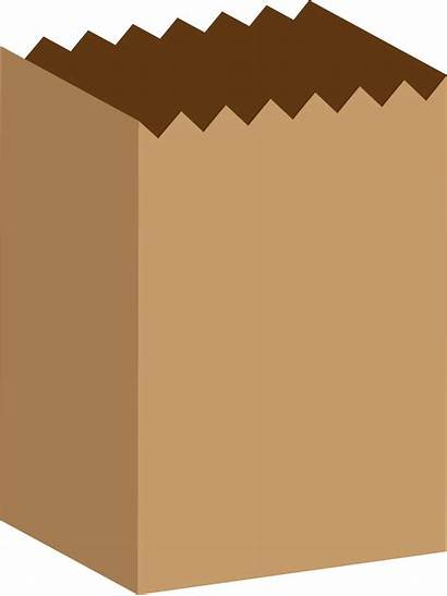 Bag Paper Brown Clipart Clip Vector Cartoon