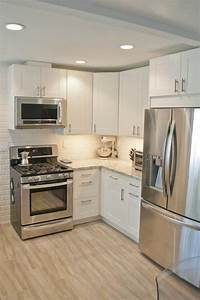 best 25 small white kitchens ideas on pinterest city With kitchen colors with white cabinets with how to make custom stickers