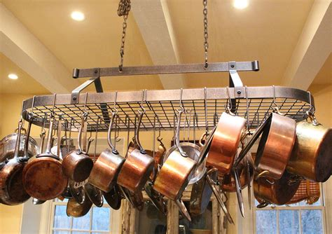kitchen decor enclume pot racks  furniture buy copper cookware
