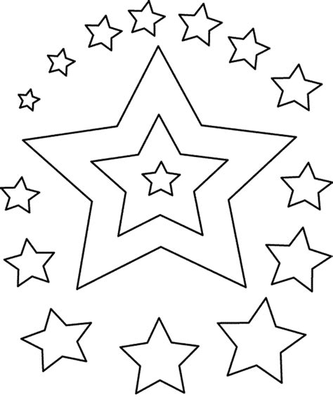 printable star coloring pages  kids