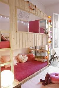 Enfant Lit Fille : le lit mezzanine ou le lit superspos quelle variante choisir ~ Teatrodelosmanantiales.com Idées de Décoration