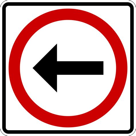 Sign In by Archivo Turn Left Sign Mexico Svg Wikcionario