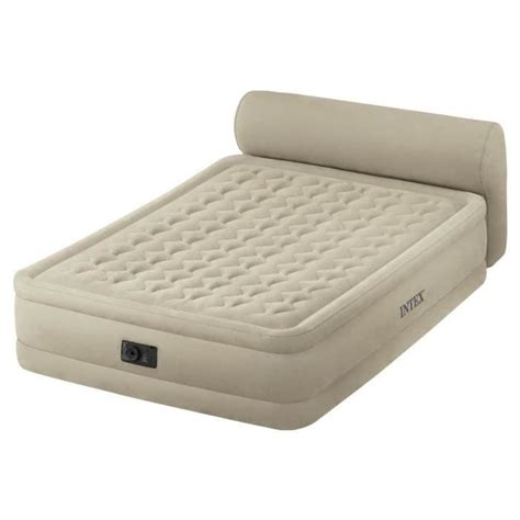 lit gonflable intex headboard bed fiber tech 2 places