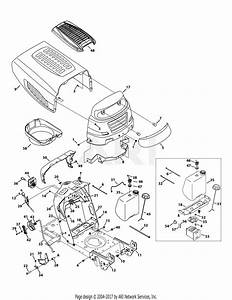 Mtd 13w2775s031  Lt4200   2014  Parts Diagram For Hood