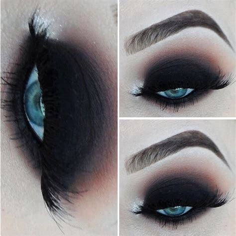 perfect club makeup  featuring sexy smokey eyes