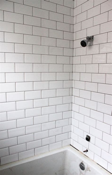 Beveled Tile Inside Corners by White Beveled Subway Tile Bathroom Bevelled Subway Tile