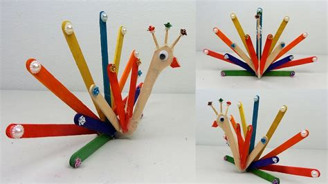 diy popsicle stick crafts colorful bird easy animal