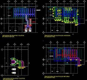 Split Type Air Conditioning System--Installation DWG Block