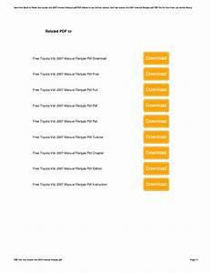 Free Toyota Vitz 2007 Manual Filetype Pdf