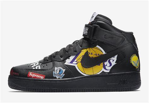 foto ufficiali supreme  nike air force  nba black sneaker narcos
