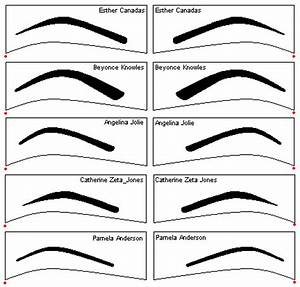 collection of beautiful eyebrow shape tips for beautiful With printable eyebrow stencil template