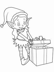 Weihnachtsgeschenke Zum Ausmalen : kostenlose malvorlage weihnachten elf mit ~ Watch28wear.com Haus und Dekorationen