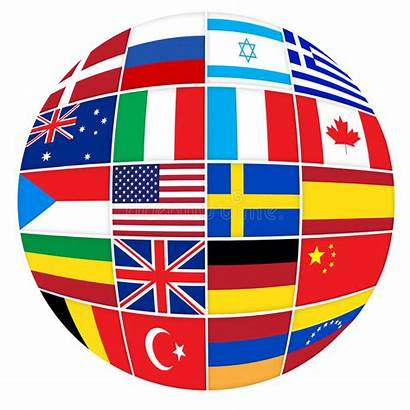 Countries Different Flags Many Collage Oecd Illustration