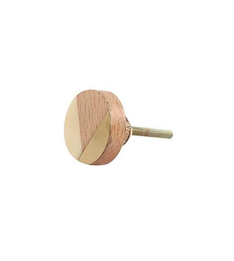 boutons de meubles de cuisine bouton de meuble vintage géométrie or et bois boutons