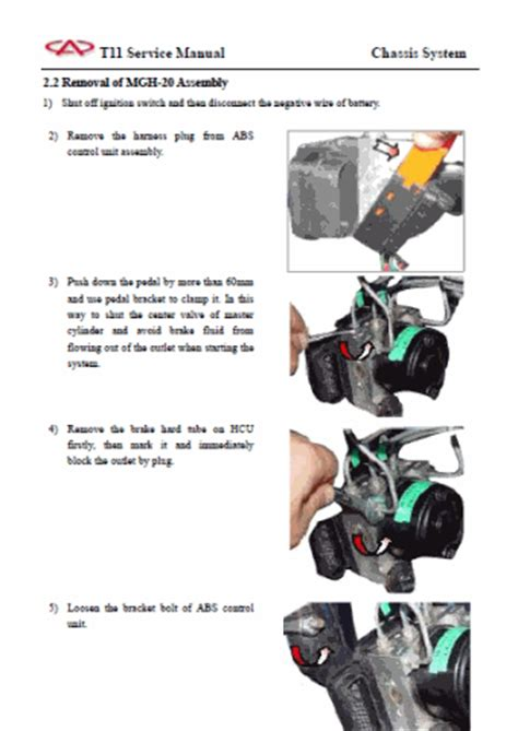owner manual and workshop manual chery tiggo 1 6l 1 8l 2 0l and 2 4l gasoline and diesel