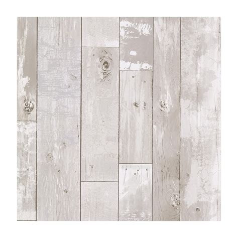 provincial wallcoverings heim white distressed wood panel