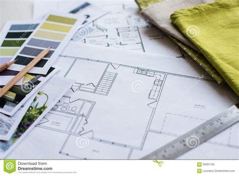 interior fabrics okc plan interior designers working table stock image image 59301105