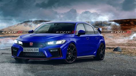 New Honda Civic Type R Rendered After Leaked Patent Images ...