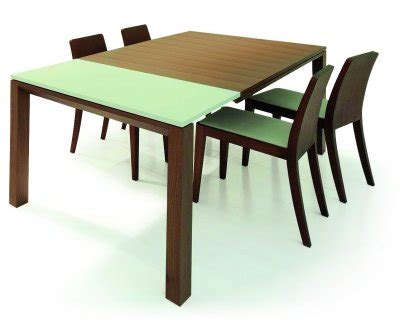 400 saginaw furniture extensol convertable walnut modern dining table w white extension