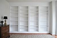 built in wall shelves DIY Built-in Custom Bookshelves Using IKEA Billy Bookcases Hack | 11 Magnolia Lane