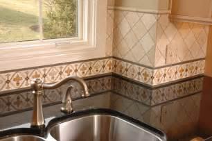 Tile Borders For Kitchen Backsplash Painted Kitchen Border Tile Backsplash