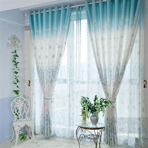 blue and white curtains myideasbedroom