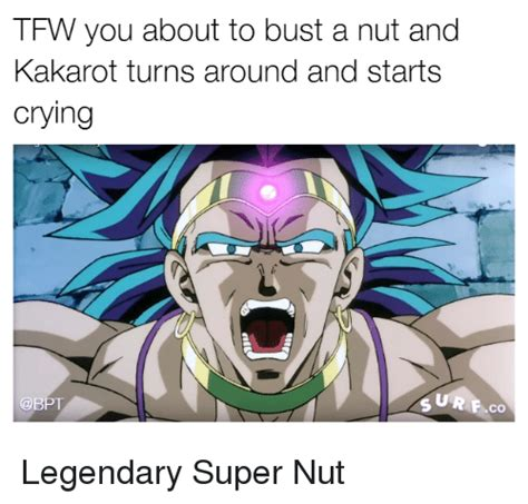Bust A Nut Meme - funny broly memes of 2016 on sizzle dragonball