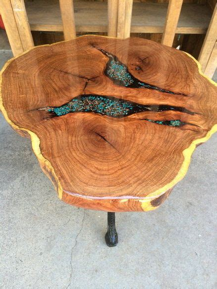 epoxy filled wood slab table epoxy wood table wood