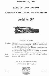 American Flyer Locomotive 299  U0026 307 Parts List And Diagram