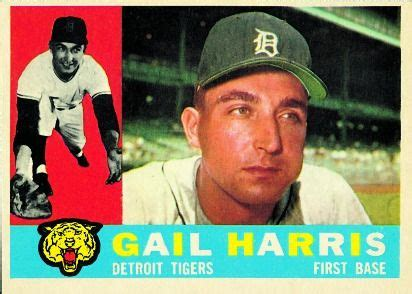 gail harris   base detroit tigers card number