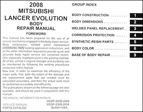 car maintenance manuals 2003 mitsubishi lancer evolution user handbook 2008 mitsubishi lancer evolution body manual original