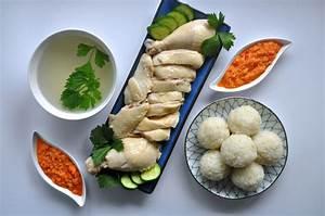 Hainanese Chicken Rice Balls with Garlic Chilli Sauce