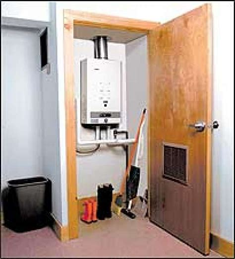 water heater closet smart homes tankless heaters keep showers seattlepi