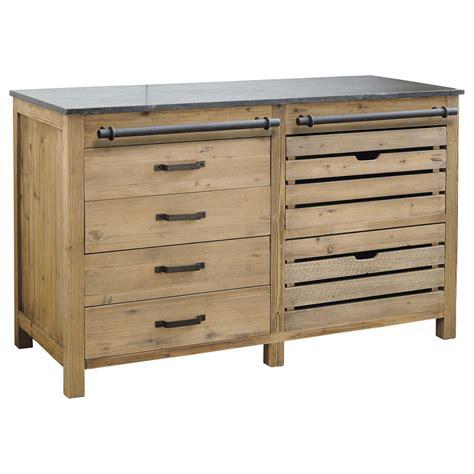 but meuble de cuisine bas meuble bas de cuisine en bois recyclé l 140 cm pagnol