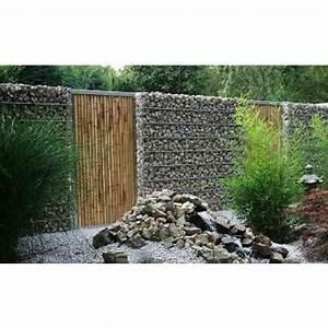 Bambus Edelstahl Sichtschutz : edler bambus sichtschutz mit metallrahmen ~ Markanthonyermac.com Haus und Dekorationen