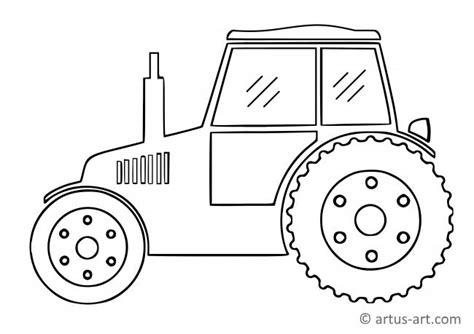 einfacher traktor ausmalbild gratis ausdrucken