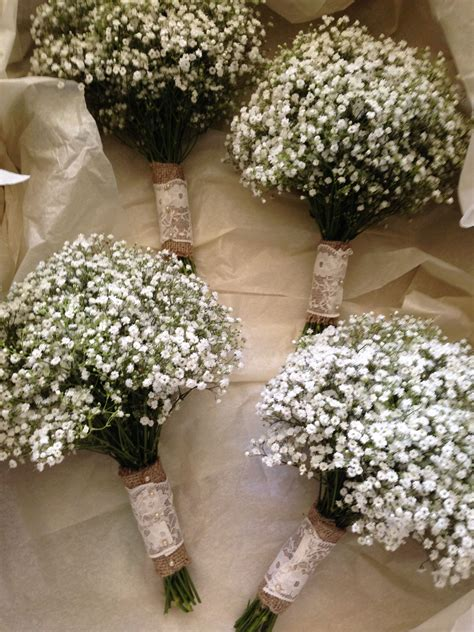 bridesmaids gypsophila bouquets possibly changing