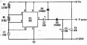 electronics us wood power With 555 dc voltage doubler circuit