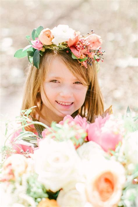 ideas  flower girl halo  pinterest flower