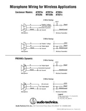 Audio Technica Wiring Diagram by Audio Technica Pro 8 Hex Thomann Uk
