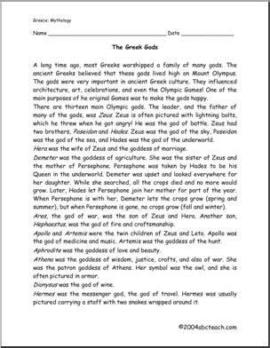 All Worksheets » Mythology Worksheets For High School  Printable Worksheets Guide For Children