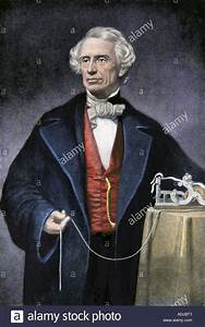 Samuel Morse with his invention the telegraph Stock Photo ...